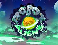 Robot Vs Aliens game art (2014 year of creation)
