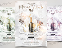 2017 NEW Year - Free NYE PSD Flyer Template