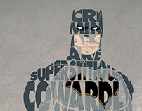 Illustration project | Superheroes & Villains Typograph