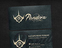 Business card design for Pandora concert