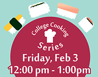 College Cooking Series Event Flyer