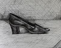 Pen and Shoe Sketch