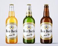 500ml Beer Bottle Mock-up