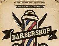 Vintage Barber Shop Flyer Template