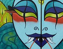 Medusa Mural for Balter Festival 2017