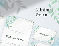 Minimal Green Invitation