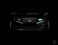 Lada Vesta Widebody Teaser
