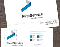 FirstService Residential Interior Signage - Boca Raton