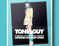 Editorial design for Toni and Guy Hair