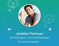 Portfolio App User Profile UI/UX Design