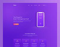 Petar - Trendy Mobile App Landing Page