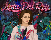 LANA DEL REY l Animated digital painting