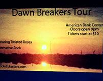 Dawn Breakers concert poster