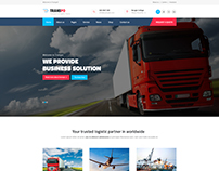 Logistic & Transport PSD Template