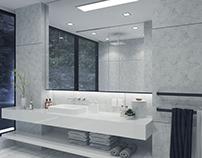 Scenic Bathroom Rendering