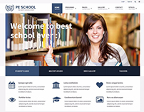 School WordPress theme Example for university