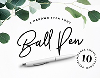 Ball Pen Handwritten Font