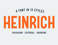 Heinrich – font with 13 styles