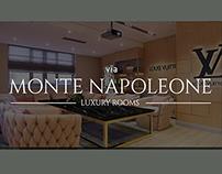 Monte Napaleone.Louis Vuitton cabinet.