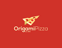 Origami Pizza Branding