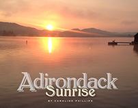 Adirondack Sunrise Poster