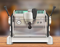 Espresso Machine Illustration