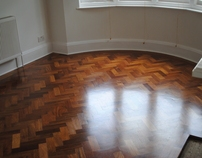 Merbau Parquet withy Curved Border
