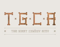 The Giant Cowboy Army - font
