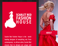 Scarlet Red Fashion House  Web Design Project