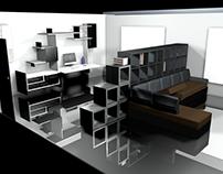 Estudio para loft ejecutivo - Mobiliario e interiorismo