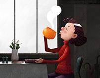 Pumpkin Coffee Break