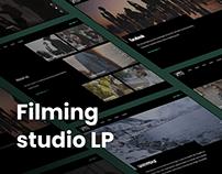 Filming studio landing page