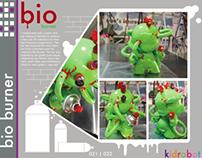 Bio Burner - Kidrobot SF - Munny Vinyl Toy Toy
