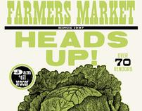 HEADS UP! Farmer's Market Poster