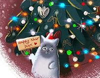 CHRISTMAS CATS | POSTCARDS