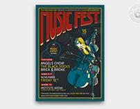Music Festival Flyer Template V6