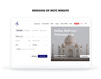 Redesign Concept of IRCTC Website Ticket Booking Flow