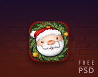 Free PSD Christmas app icon