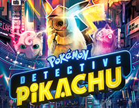 Official Pokemon Detective Pikachu MoviePoster- Vector