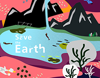 插畫設計_Save the earth