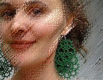 "Tatting earrings ""Emerald""."