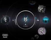 The AUDI Planet, Concept Car Dashboard GUI
