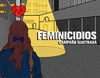 Feminicidios. Campaña Ilustrada.