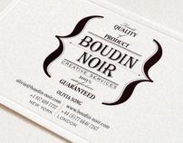Boudin Noir identity
