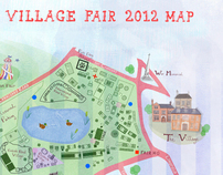 Wimbledon Village Fair Illustrated Map