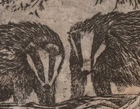 Badger etchings