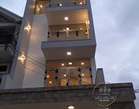 Thi Công Nhà Phố Trọn Gói 4 Tầng Hiện Đại 5x20m