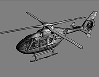 "Helicopter model for ""Bergrettungs-Simulator"" game"