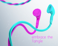 Tangle -Two tone earphone concept