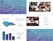 Best Blue annual Design PowerPoint templates download